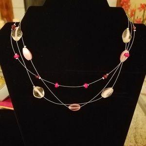 """LIA SOPHIA - """"BUBBLE GUM"""" multi-strand wire neck"""